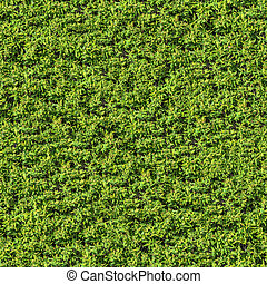 Green Spring Leafy Bush. Seamless Tileable Texture.