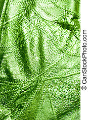 Green Leather Of Texture Background