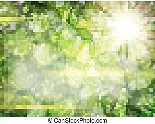 Green leaves background. EPS 10