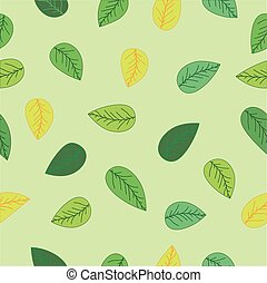 Green leaves Background Seamless pattern