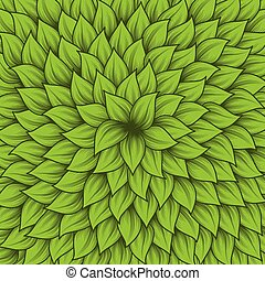 Green leaves center background