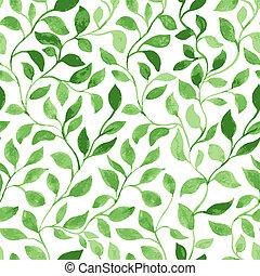 Green Leaves classic foliage pattern