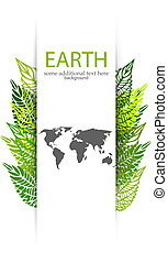 Green leaves Earth background