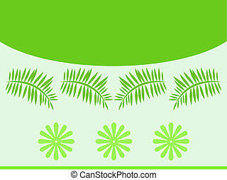 Green leaves flowers