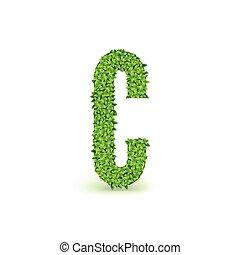 Green Leaves font C.