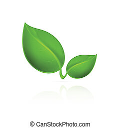 Green leaves icon.