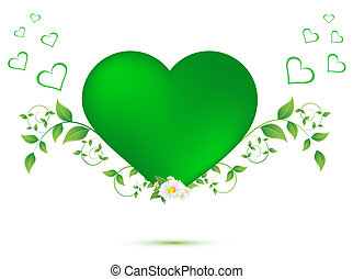 green leaves in the shape of heart