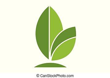 green leaves logo logo