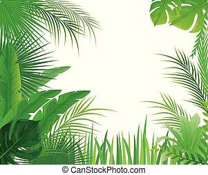 green leaves on white background vector design