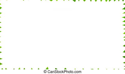 Green leaves on white background with copy space. 4K stop motion animation