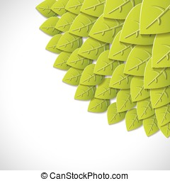 Green leaves paper background