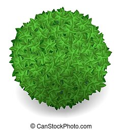 Green Leaves Round Isolated