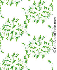 green leaves seamless background