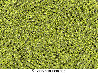 green leaves spiral background