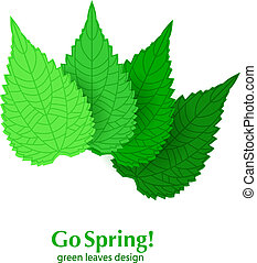 Green leaves spring background