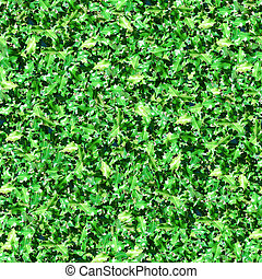 Green Leaves With Sunlight Seamless Pattern