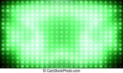 Green led loop animated VJ background