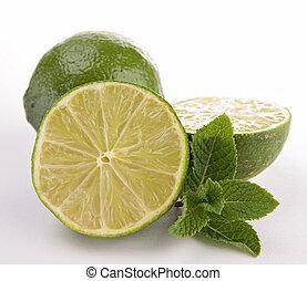 green lemon and mint