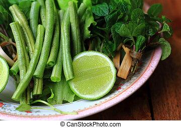 green lemon vegetable