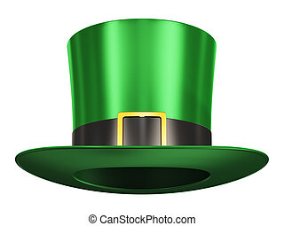 Green Leprechaun hat - Creative abstract St. Patrick's Day...