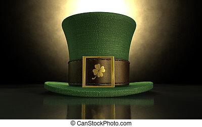 Green Leprechaun Shamrock Hat