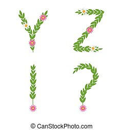 Green letter set