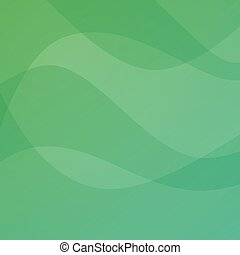 Green light abstract background - Vector illustration of Aurora Northern Lights.