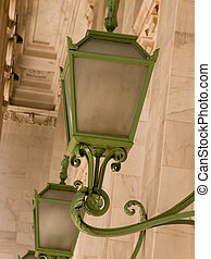 Green light fixture