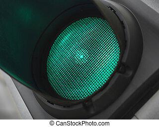 Green light for go - Stock Image