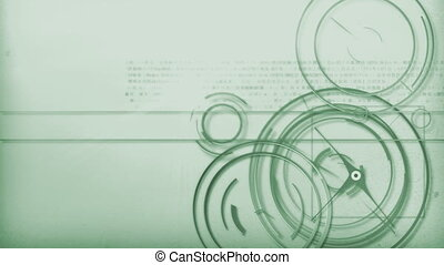 green light line technology - Motion graphic line of...