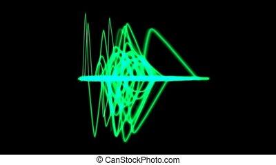 green light line,green background