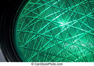 green light of a traffic signal