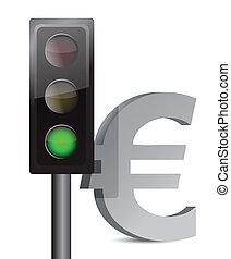 green light on euro concept