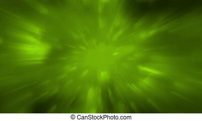Green light rays and streaks animated background - Green...