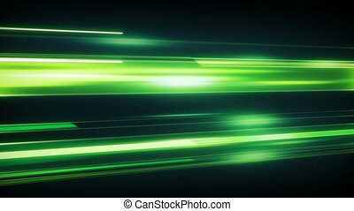 Green light streaks loopable modern background - Green light...