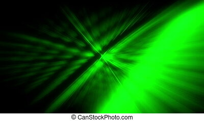 Green light streaks looping abstract - Animated green light...