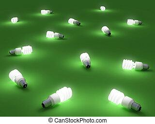 Green light - Very high resolution rendering of energy...