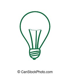 Green lightbulb sign