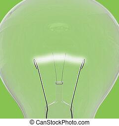 Green lightbulb