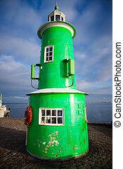 lighthouse - green lighthouse in Helsingor Denmark