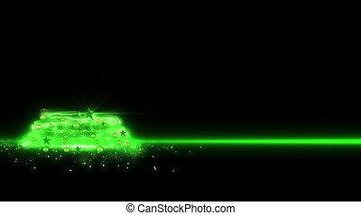 Green lights Christmas Tree 2013