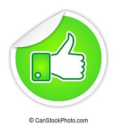 green LIKE sticker