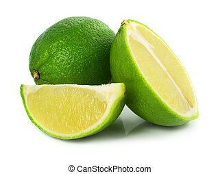 green lime exotic fruit