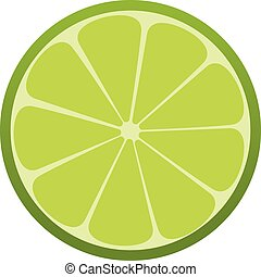 Green lime icon. Citrus. Refreshing drink Vector illustration