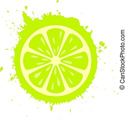 Green lime icon