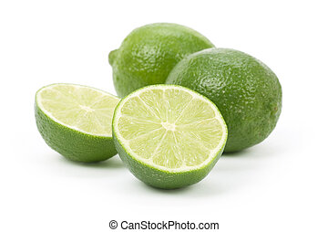 Lime - green Lime with white background