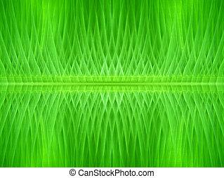 Green line background of banana leaf.