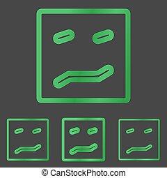 Green line fear logo design set