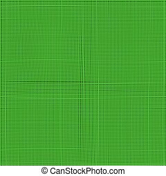 Green line vector fabric thread canvas burlap texture to use as background, texture, mask or bump. Seamless vector pattern..
