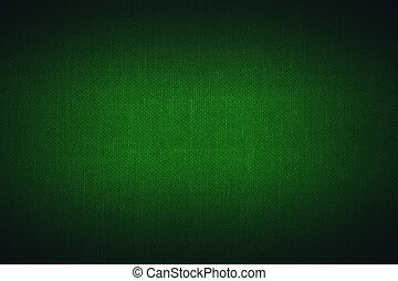 green linen texture with with bright center spotlight and black